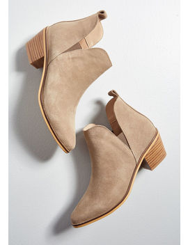 Touch Of Luxe Suede Bootie by Chelsea Crew