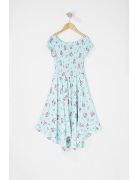 Girls Floral Off The Shoulder Smocked Trapeze Dress by Urban Planet