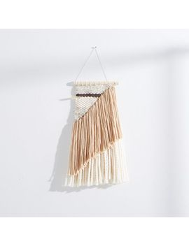 Sun Woven Wall Hanging, Small, Ivory/Mustard/Gold by West Elm