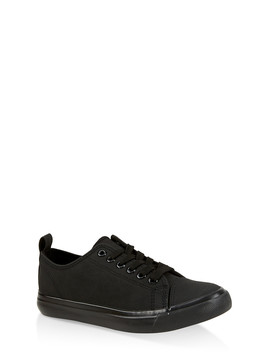 Canvas Lace Up Tennis Sneakers by Rainbow