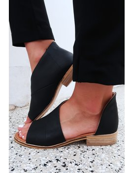 Walk In Her Shoes Flats: Black by Hope's