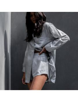 Resort Linen Silk Shirt Set by Lunya