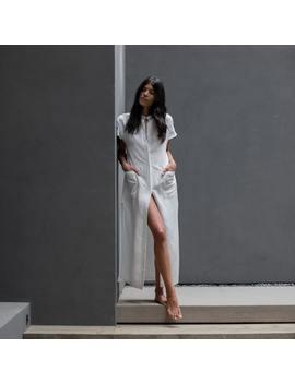Resort Linen Silk Layering Dress by Lunya