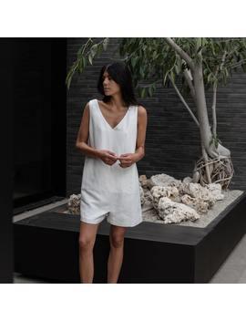 Resort Linen Silk Romper by Lunya