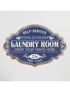 Laundry Room Metal Sign by World Market
