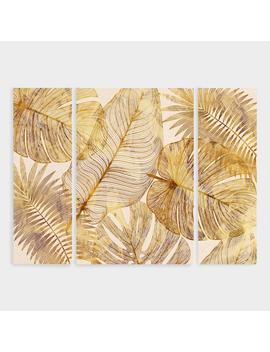 Island Golds Canvas Wall Art Triptych Set Of 3 by World Market