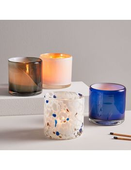 Mixed Pattern Glass Votives by West Elm