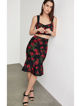 La Rosa Flared Pencil Skirt by Bcbgmaxazria