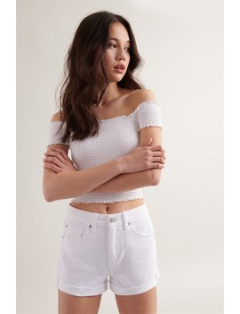 Mom Short   White by Garage