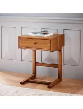 Mid Century C Shaped Nightstand by West Elm