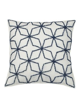Embroidered Pillow Covers – Blue Geo by The Company Store