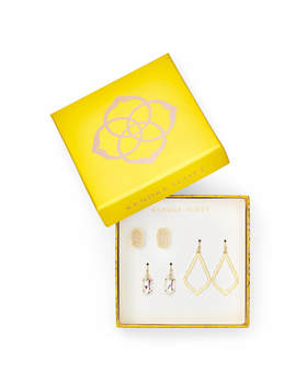 Sophia, Lemmi, &Amp; Ellie Earring Gift Set In Gold by Kendra Scott