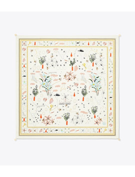 Poetry Of Things Silk Square Scarf by Tory Burch