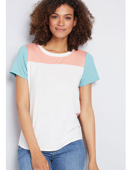 Tone Trio Colorblock Tee by Modcloth