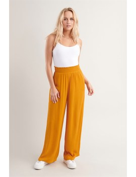 Smocked Waistband Flare Pant by Garage