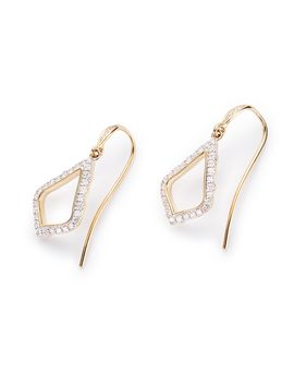 Liliana Drop Earrings In Pave Diamond And 14k Yellow Gold by Kendra Scott