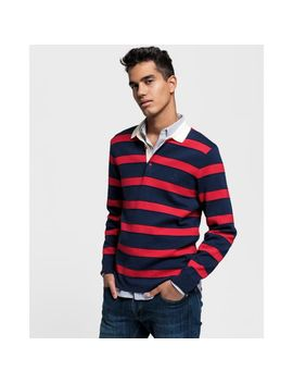 Gant Knitted Striped Rugger by Gant