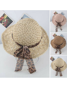 Toddlers Boys Girls Kids Beach Sunhat Floppy Round Brim Derby Cap Straw Hat Cute by Unbranded