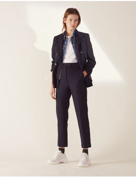 Straight Cut Tailored Trousers by Sandro Paris
