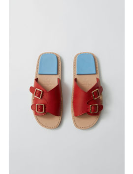 Buckle Sandals Red/Blue by Acne Studios