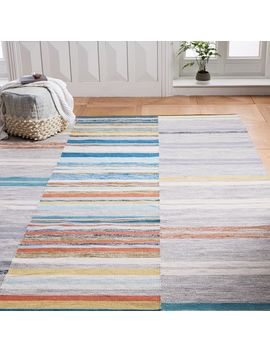 Mixed Stripes Cotton Dhurrie   Multi by West Elm