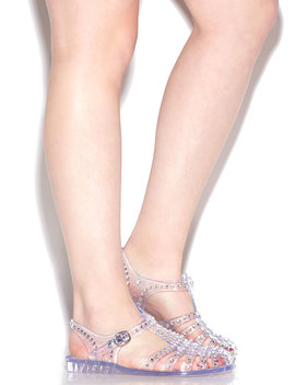 My Childhood Jam Jeweled Jelly Sandals by Go Jane