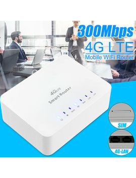 300 Mbps 4 G Lte Cpe Wi Fi Router Hotspot Modem Network Adapter With Sim Card Slot by Meco