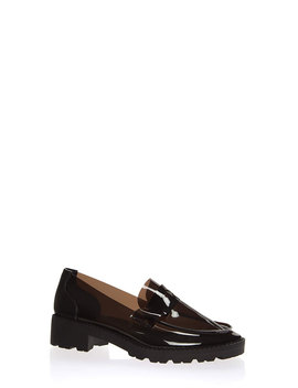 Clearly Chic Block Heel Loafers by Go Jane