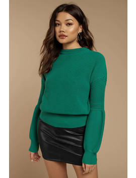 The Fifth Label Explore Green Knit Sweater by Tobi