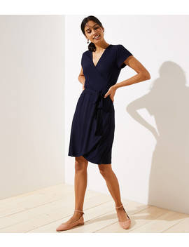 Short Sleeve Wrap Dress by Loft