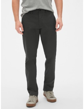 Modern Khakis In Straight Fit With Gap Flex by Gap