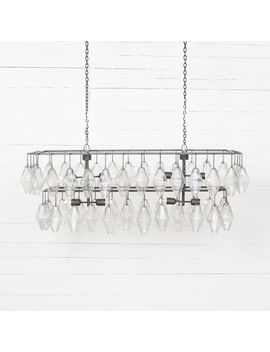 Grand Waterfall Chandelier – Rectangular by West Elm