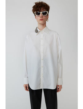 Beaded Feather Shirt White by Acne Studios