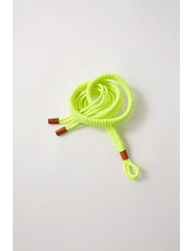 Braided Belt Fluo Yellow by Acne Studios