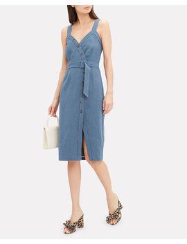 Avalyn Denim Midi Dress by Saylor