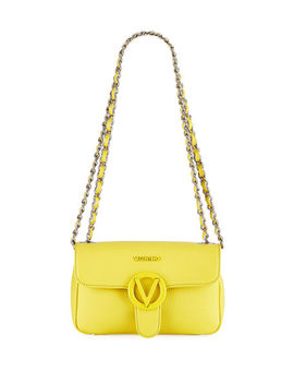 Poisson Dollaro Pebbled Leather Shoulder Bag by Valentino By Mario Valentino