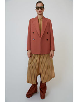 Double Breasted Jacket Coral Red by Acne Studios