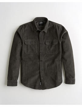 Corduroy Utility Shirt Jacket by Hollister
