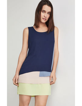 Haley Colorblocked Tank Dress by Bcbgmaxazria