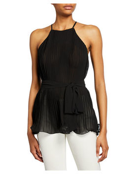 Pleated Halter Top by Endless Rose