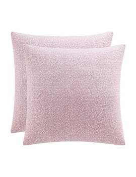 Laura Ashley Lidia Pink Cotton Quilted European Sham Cover (Set Of 2) by Laura Ashley