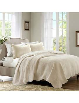 Madison Park Marino Reversible Scalloped Edge Coverlet Set 3 by Madison Park