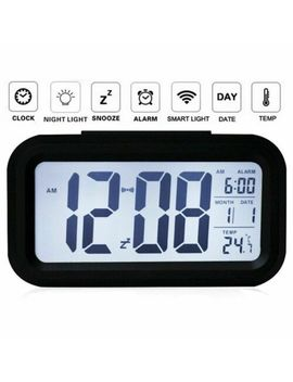 Led Digital Electronic Alarm Clock Backlight Time With Calendar Thermometer by Unbranded