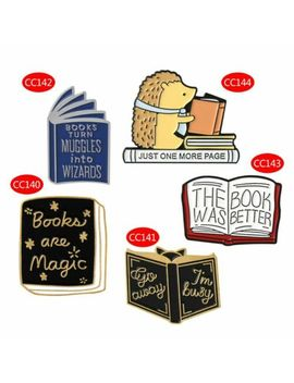 Fashion Magic Book Brooch Cartoon Hedgehog Enamel Badge Clothes Pins Ornaments by Unbranded