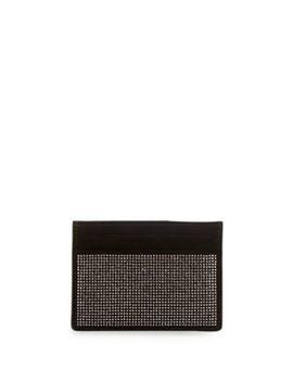 Nailhead Embellished Leather Card Holder by Giuseppe Zanotti