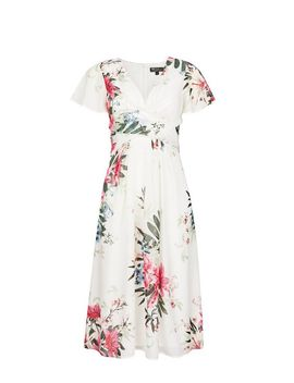 **Billie &Amp; Blossom Floral Print  Midi Dress by Dorothy Perkins