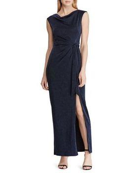 Brooch Jersey Cowlneck Gown by Lauren Ralph Lauren