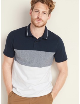Built In Flex Moisture Wicking Color Block Pro Polo For Men by Old Navy