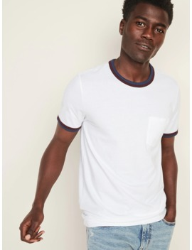 Soft Washed Double Bound Ringer Pocket Tee For Men by Old Navy