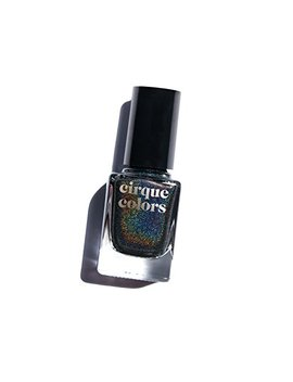 Cirque Colors Holographic Nail Polish   Alter Ego   Black   0.37 Fl. Oz. (11 Ml)   Vegan, Cruelty Free, Non Toxic Formula by Cirque Colors